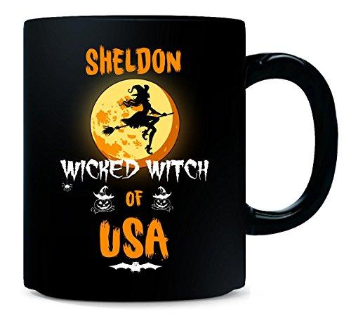 Sheldon Wicked Witch Of Usa. Halloween Gift - Mug -