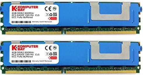 16GB 8X2GB DDR2 667MHz PC2-5300 ECC FB Dual Rank 2Rx8 FULLY BUFFERED MEMORY RAM