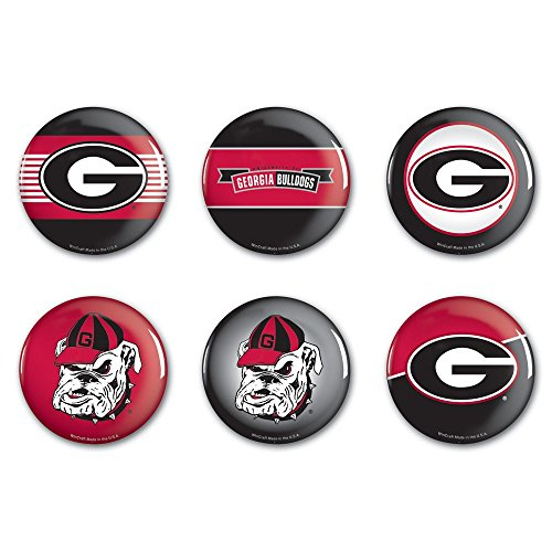 - WinCraft NCAA University of Georgia WCR90382011 Round Button (6 Pack), 2