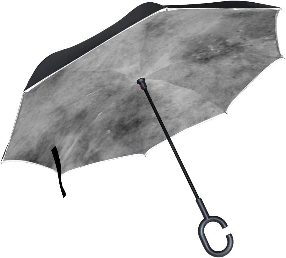 Double Layer Inverted Inverted Umbrella Is Light And Sturdy Concrete Texture Dirt Polished Cement Background Reverse Umbrella And Windproof Umbrella