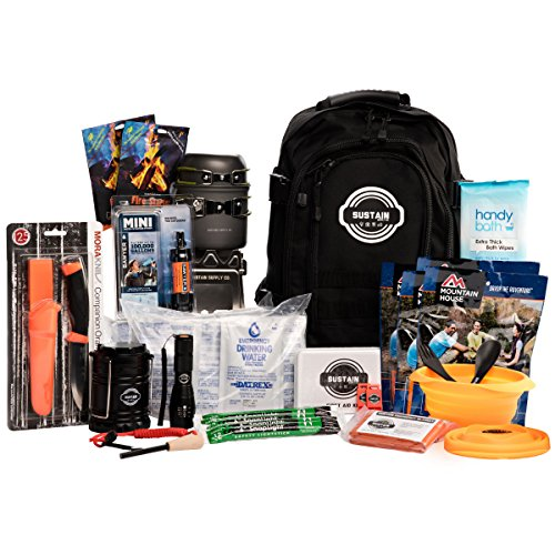 2 Person Premium Emergency Survival Bag With 72 Hours of Disaster Preparedness Supplies