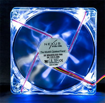 - Nexus LED D12SL-12WL 120mm White LED Case Fan