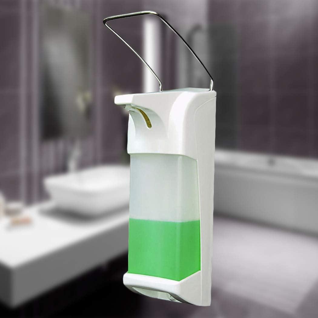 JUSTDOLIFE Seifenspender Wandmontierte Elbow-Press Seifenpumpen-Desinfektionsmittelspender f/ür Zuhause