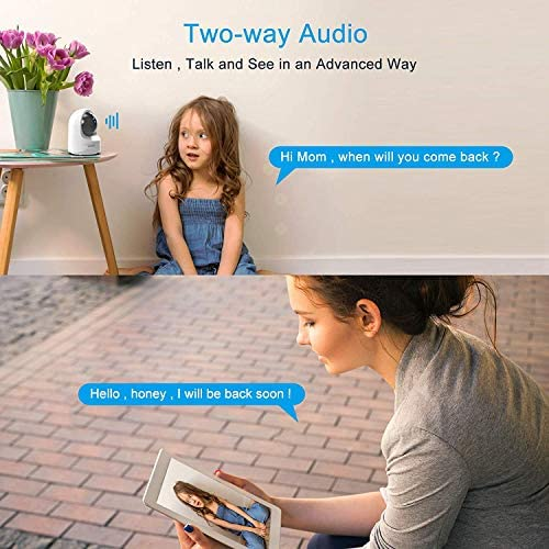 Baby Monitor Camera, Wansview 1080PHD Wireless Security Camera For Home, WiFi Pet Camera For Dog And Cat, 2 Way Audio, Night Vision, Works With Alexa Q6-W …