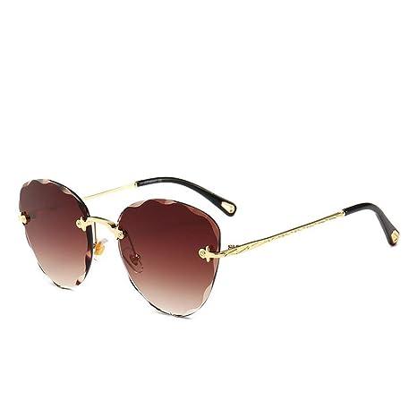 RM-WANGLUO-HZ Gafas de Sol de Color océano sin Marco Gafas ...