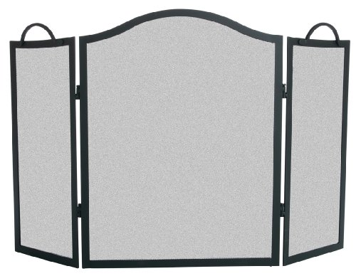Panacea Products 15116 3-Panel Camelback Fireplace Screen, 31 by 48-Inch