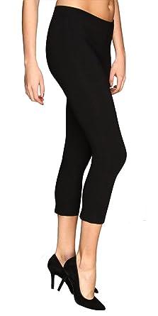 HUE Capri Cotton Legging at Amazon Women's Clothing store ...