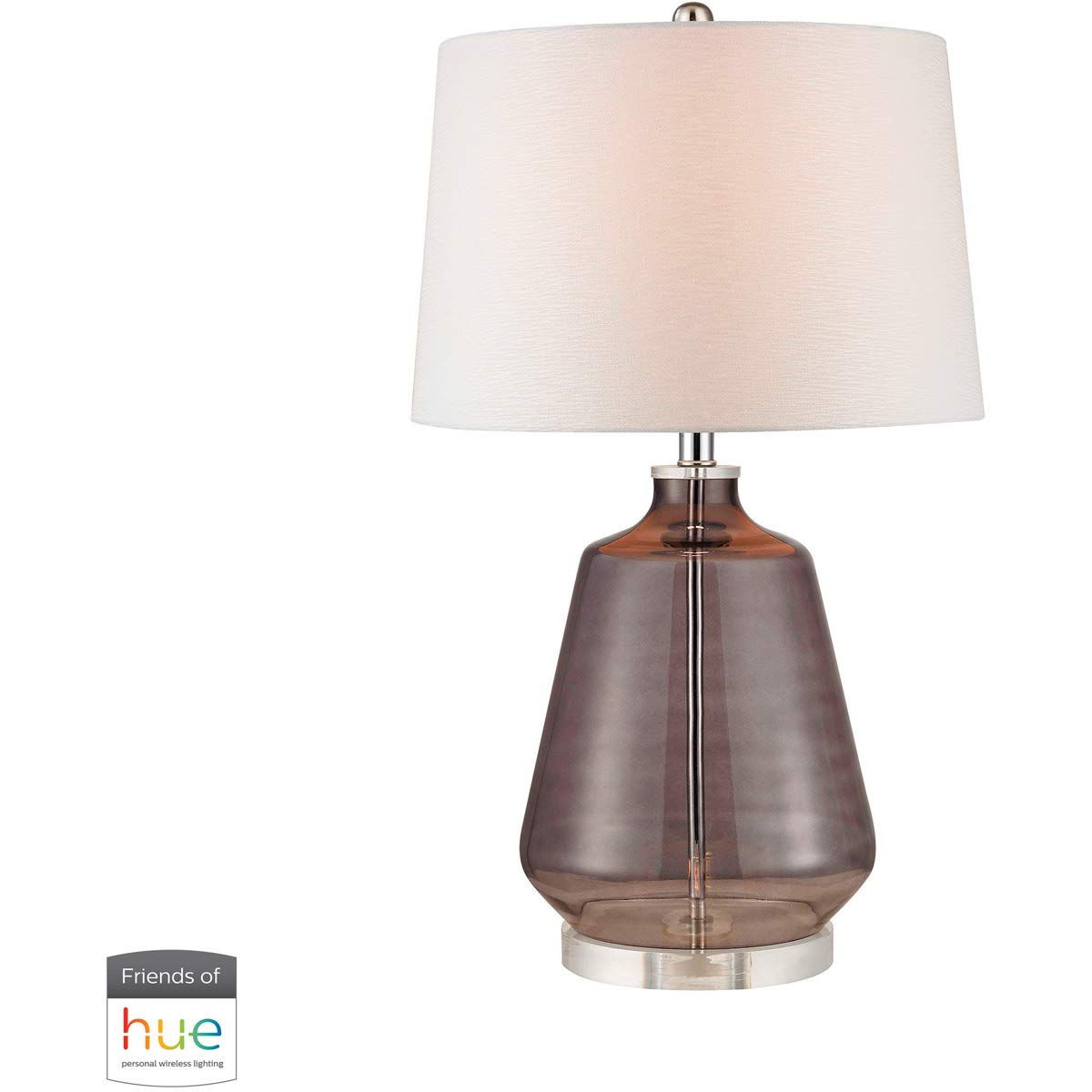Table lamps 1 light fixtures with grey smoke finish crystal glass material e26 27 60 watts amazon com
