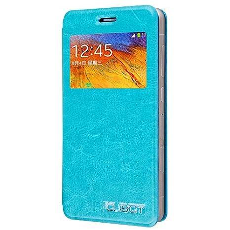 Prevoa ® 丨Original Flip View Case Cover Funda para Cubot X9 Smartphone - Azul