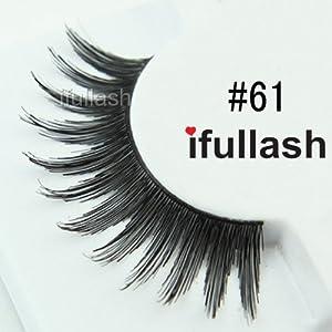 #61, 6 Pairs ifullash 100% Human Hair Eyelashes