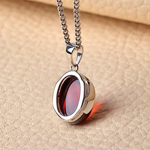 usongs Very retro Thai silver necklace pendant 925 synthetic cubic zirconia necklace pendant women girls jewelry minimalist trend