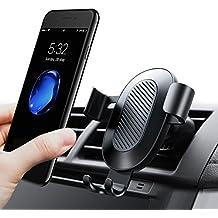 Teléfono celular titular para el coche, Torras Gravedad auto-clamping Air ventilación Bracket Soporte de coche para iPhone 7/7Plus/6/6S Plus, Samsung Galaxy, LG, Smartphones, color negro