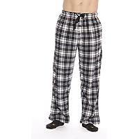 # FollowME Microfleece de los hombres Plaid Pajama Pants con Bolsillos