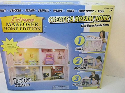EXTREME MAKEOVER HOME EDITION CREATE A DREAM HOME DOLL HOUSE KIT