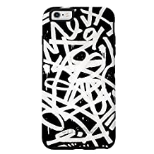 "OtterBox SYMMETRY SERIES Case for iPhone 6 Plus/6s Plus (5.5"" Version) - Retail Packaging - GRAFFITI (BLACK/BLACK/GRAFFITI GRAPHIC)"