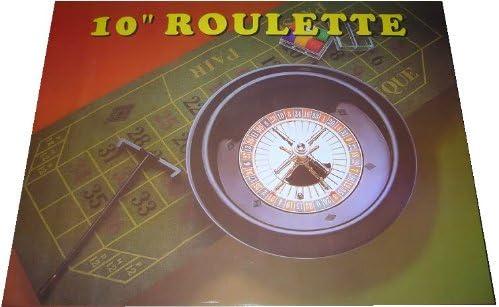 Box Roulette-Set 25,4cm Deluxe-Chips Rad Bälle Filz Rechen + extra Set Chips