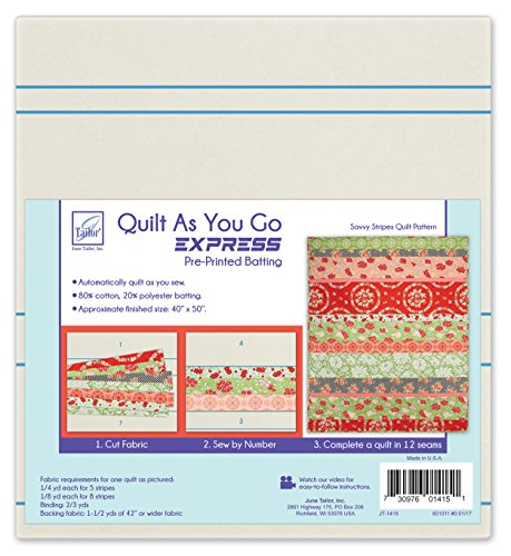 June Tailor Express Quilt Series Go (C) -Savvy Stripes by June Tailor
