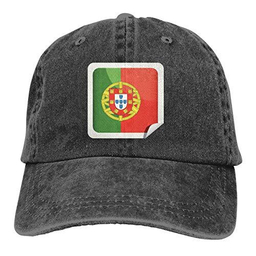 Portugal Flag Icon Cowboy Hat Dad Hats Golf Denim Cap for Mens Womens