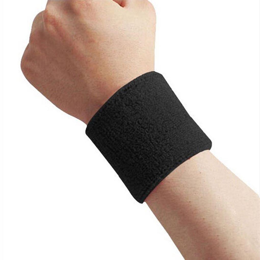 busirde 1x Unisexe Tissu /éponge Coton Sweatband Sport Poignet Tennis Yoga Sweat Bracelet Bleu