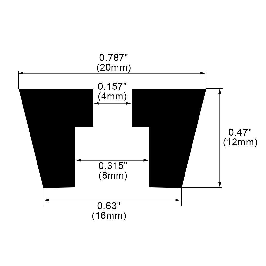 uxcell 6pcs Rubber Feet Bumpers Furniture Table Amplifier Speaker Cabinet Leg Pads D31x29xH22mm