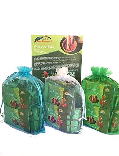 TCM Head-To-Toe Pack- 5 boxes Foot Soak Herbs Plus 2 FREE bags Mugwort & Bath Herbs samples $8 Value by Shine Wellness Inc