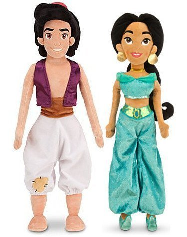 Jasmine and Aladdin Together Forever Plush Set (Aladdin Jasmin)
