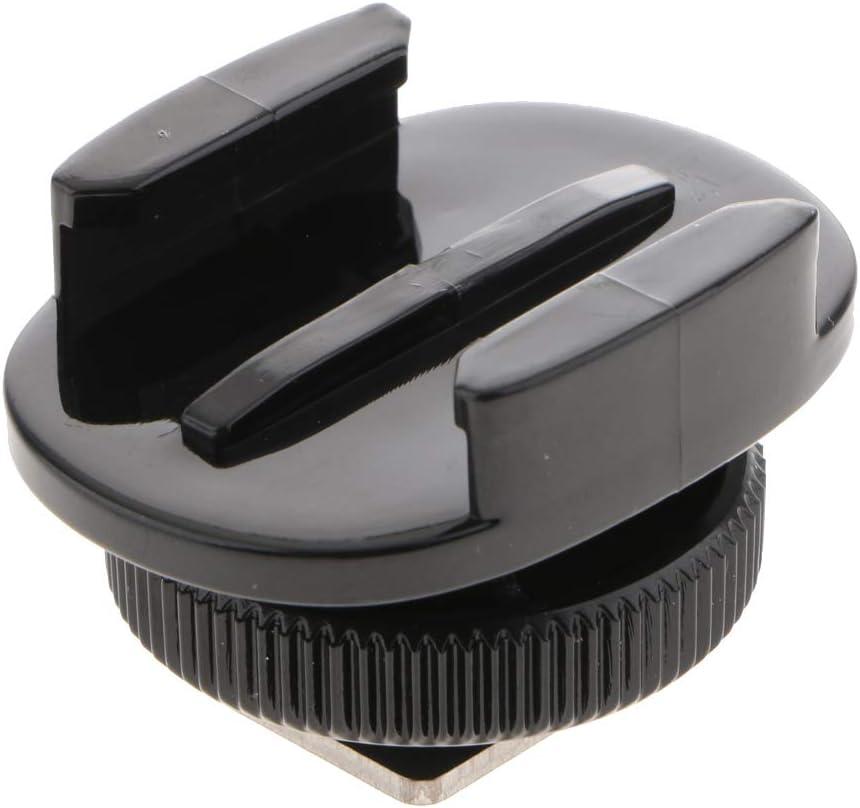 perfk Adaptateur de Fixation de Griffe Froide Montage de Lampe /à Lumi/ère Support Tr/épied pour GoPro Canon Nikon SLR Cam/éras