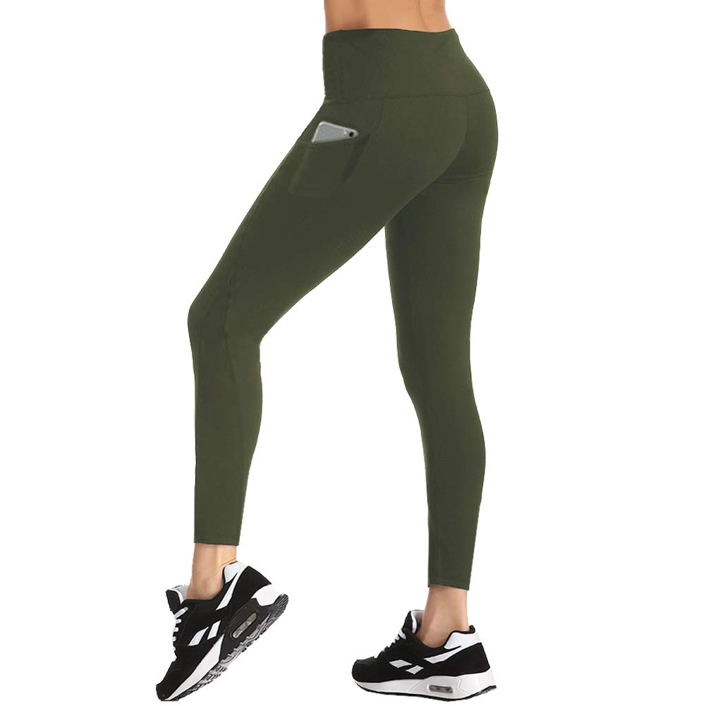HLTPRO High Waist Yoga Pants for Women - Non See Through Tummy Control Yoga Leggings with Pockets for Workout, Running by HLTPRO