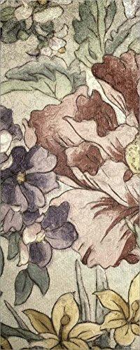 Earthtone Floral Panel - Great Art Now Earthtone Floral Panel II by Catherine Kohnke Laminated Art Print, 11 x 27 inches