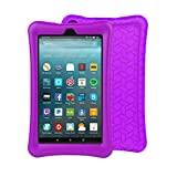 BFTOP Fire 7 2017 Kid Case - Light Weight Shock Proof Kid-Proof Cover Kids Case for All Fire 7 Tablet (7th Generation, 2017 Release), Purple