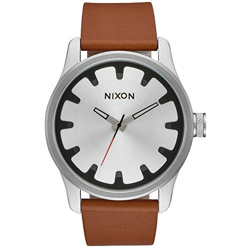 Nixon Unisex The Driver Leather Collection Black/Brown Watch