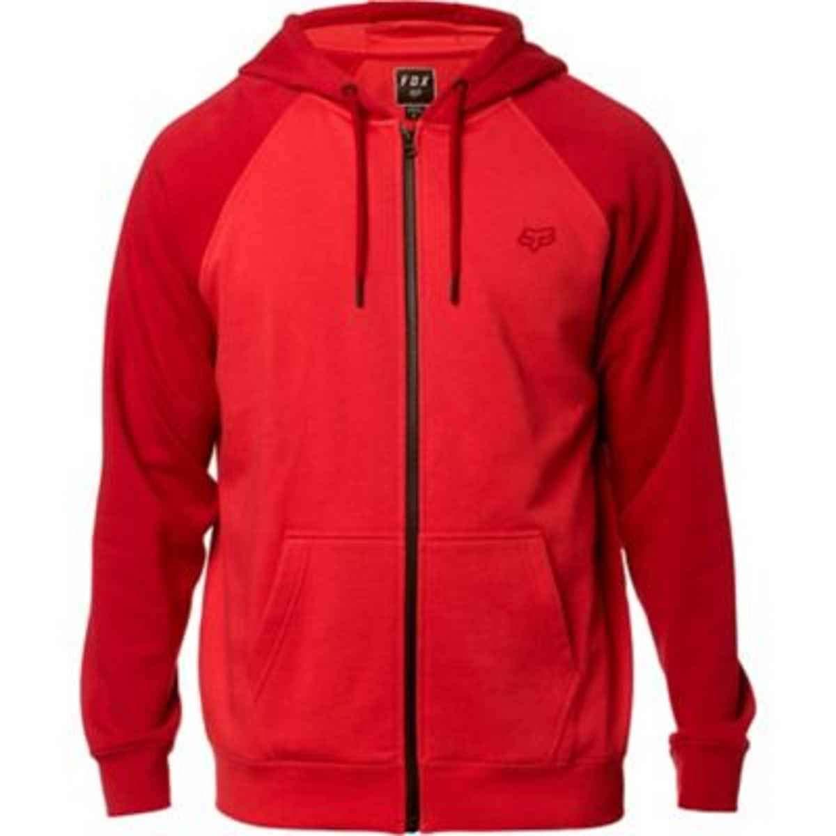 Fox Mens Legacy Zip Fleece Sweatshirt Fox Young Men/'s 17616