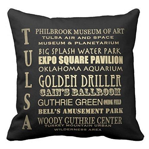 DEFFWBb Tulsa Oklahoma Famous Landmarks Throw 1818 Pillow Case -