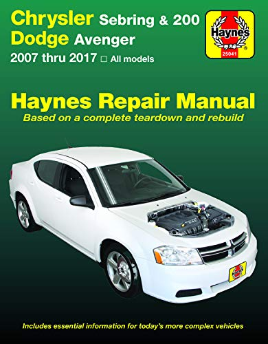 Chrysler Sebring Sedan (07-10), Sebring Convertible (08-10), 200 (11-17) & Dodge Avenger (07-14) Haynes Repair Manual (Haynes Automotive)