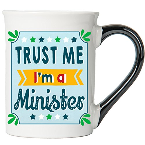 Cottage Creek - Trust Me, I'm A Minister - Large 18 Ounce Ceramic Coffee Mug - Minister Gifts - Minister Mug - InspirationalGgifts