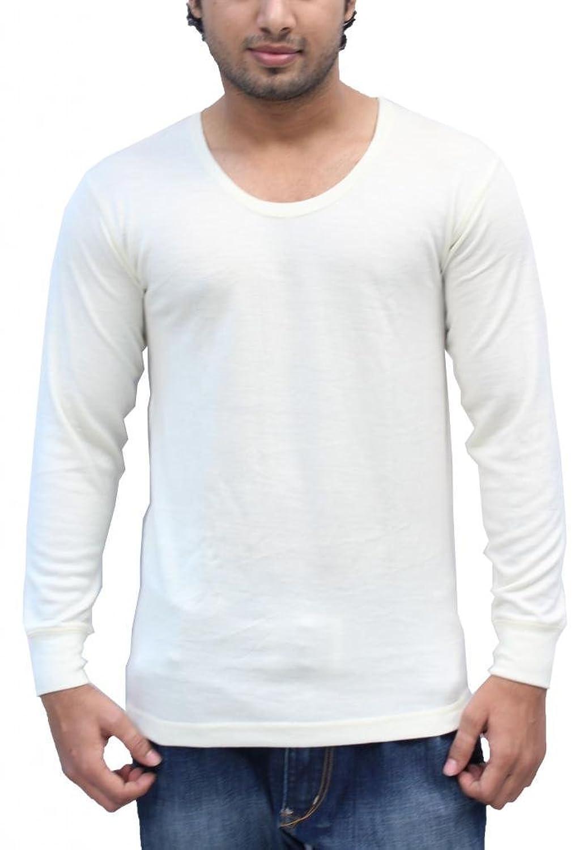 Romano Men's Wool Full Sleeve Off White Thermal