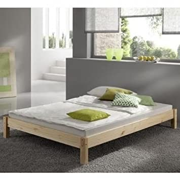 Small Single Pine Bed 2ft 6 Studio Bed Wooden Frame With Extra Wide Base Slats Includes 15cm Sprung Mattress