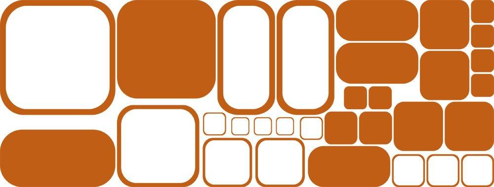 GRAZDesign 750018_57_082 Wandtattoo Retro Rechtecke   Tattoo für für für Wohnzimmer   Wandaufkleber als Wand-Dekoration (150x57cm  082 beige) B07CMXDG1P Wandtattoos & Wandbilder 4c3cfd