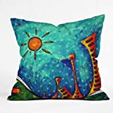 DENY Designs Madart Funky Town Throw Pillow, 16-Inch by 16-Inch