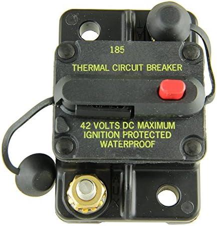 Bussmann CB185-40 Waterproof High Amp Flush Mount Type III 3 Circuit Breaker 40 Amp , 1 Pack