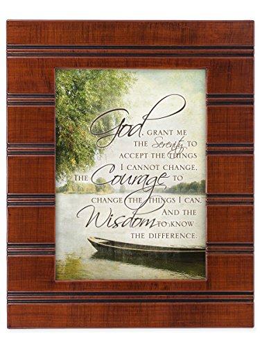 Serenity Prayer Print (The Serenity Prayer Boat on a Lake Wood Finish 8 x 10 Sentimental Framed Art Plaque)