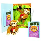 Get Well Gift – Feel Like a Sloth? Hang in There! Get Well Soon for Women, Kids, Men, Teens. Plush Sloth and Top 10 Things to Do When You Feel Like a Sloth in Gift Box. Great for After Surgery.