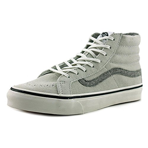 Vans Herren Sk8-Hi Slim Hight Top Lace Up Skateboard Schuhe (Vintage Wildleder) True White