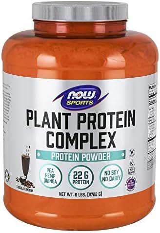Now Sports Nutrition, Plant Protein Complex Powder 22 Grams, Chocolate Mocha, 6-Pound