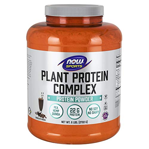 Now Sports Nutrition, Plant Protein Complex, Chocolate Mocha, 6-Pound