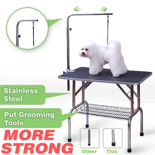 Pingkay 3 Size Pet Dog Cat Profession Dog Show Fold Grooming Table/large