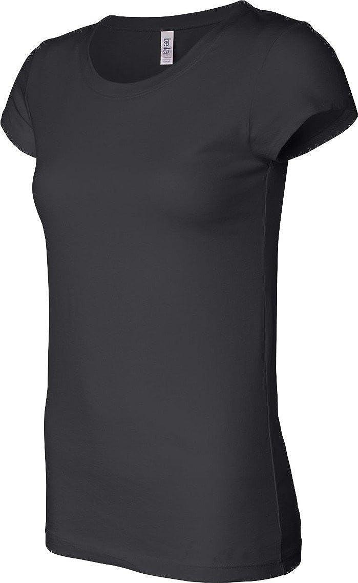 fdb6c6ae1f6 Amazon.com  Bella Ladies  Sheer Jersey Short-Sleeve T-Shirt - White   Clothing