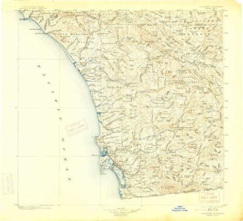 YellowMaps Southern California Sheet No 2 CA topo map, 1:250000 Scale, 1 X 1 Degree, Historical, 1904, Updated 1914, 19.9 x 21.8 in - Paper -