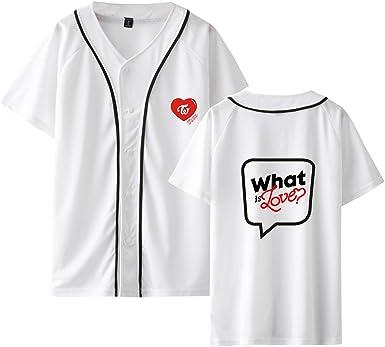 CTOOO 2018 Nuevo Twice Combinación Camisa De Béisbol De Manga Corta para Hombres Y Mujeres Camiseta Sección Delgada XXS-XXXL: Amazon.es: Ropa y accesorios