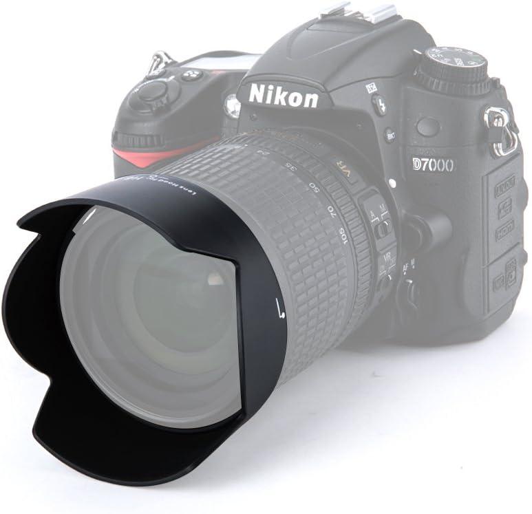 JW HB-32 Replacement ABS Reversible Lens Hood Shade for Nikon AF-S 18-70mm 18-105mm 18-135mm 18-140mm Lenses on Nikon D7200 D7100 D5600 D5500 D5300 D5200 D5100 D3400 D3300 D3200 Camera